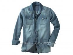 Хлопковая рубашка светлый джинс Livergy