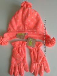 Зимняя шапка и перчатки Crazy8 на 4-6 лет