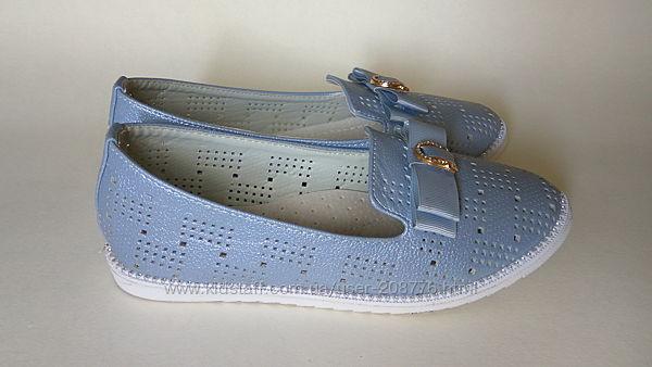 Туфли голубые школьные для девочки 32 р