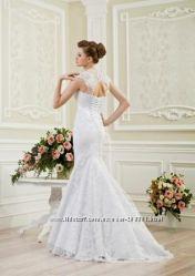 свадебное платье  кружевное со шлейфом, модель рыбка