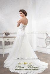 свадебное платье рыбка кружевная