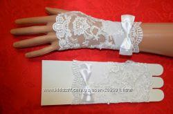 Перчатки свадебные, детские аксы для праздника