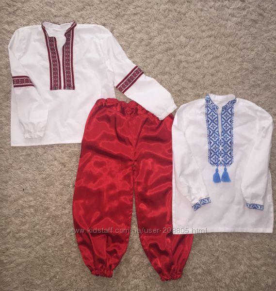 Вышиванка, украинский костюм 122-130 см