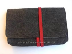 Косметичка, клатч сумочка из толстого фетра Альпийские луга Австрия