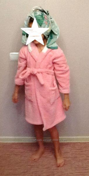 Детский махровый халат TM Cotton Candy для девочки. Можно в бассейн