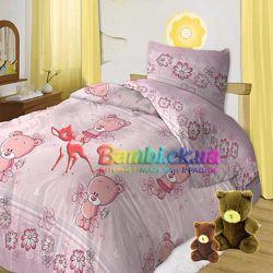 Детское постельное белье Мишутки. Для новорожденной