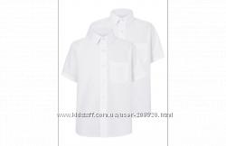 Продам белую рубашку George Slim Fit с коротким рукавом р-р 10-11 лет