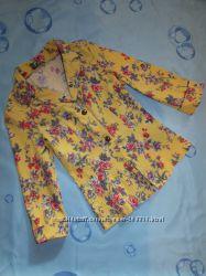 Пиджак в цветочный принт XS-S