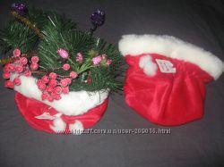 новогодние мешочки для подарков или декора