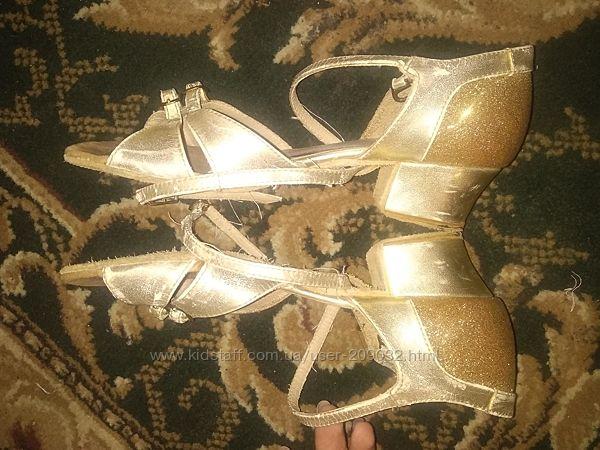 Танцевальные туфли, танцев, стандарт, золото