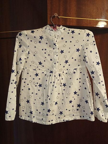 Блузка для девочки с воротником стойкой  Gloria jeans