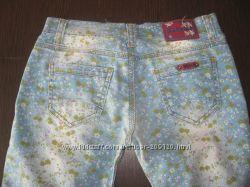 Летние джинсы для девочки, Турция, размер 14 лет.