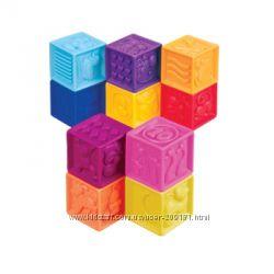 Развивающие силиконовые кубики - посчитай-ка 10 кубиков,  в сумочке