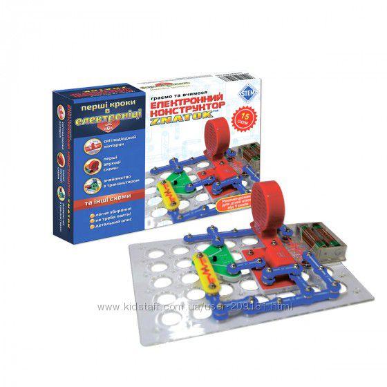Конструктор- знаток Первые шаги в электронике  15 схем, набор В