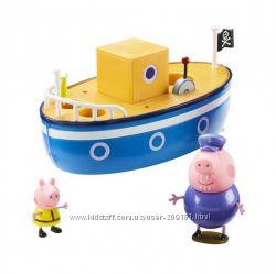 Игровой набор peppa - Морское приключение  кораблик, 3 фигурки