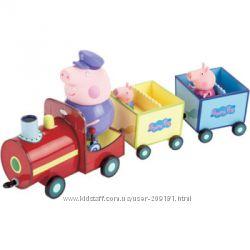 Игровой набор peppa - паровозик дедушки пеппы паровозик, 3 фигурки