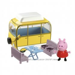 Игровой набор peppa - веселый кемпинг автобус, фигурка пеппы
