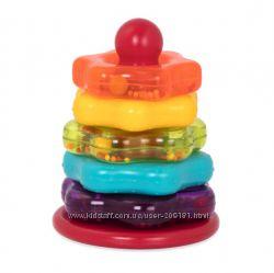 Развивающая игрушка - цветная пирамидка 7 предметов