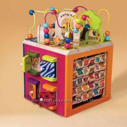 Развивающая деревянная игрушка - Зоо- куб размер 34х30х45 см