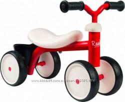 Беговел детский Smoby Toys металлический, четырехколесный красный 721400