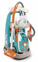 Игровой набор Smoby Toys Тележка с пылесосом и аксессуарами 330309