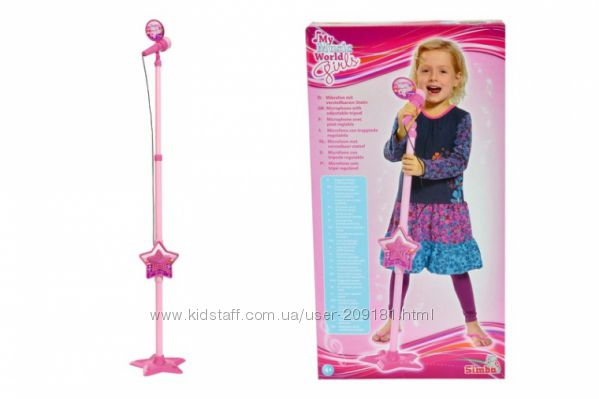 Микрофон для девочек с разъемом для MP3-плеера Simba 6830691