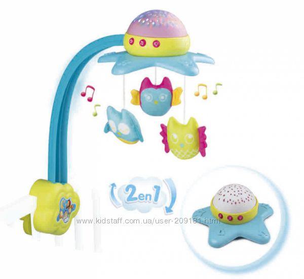 Музыкальный мобиль-проектор Smoby Toys Cotoons Звезда 2 в 1 110116