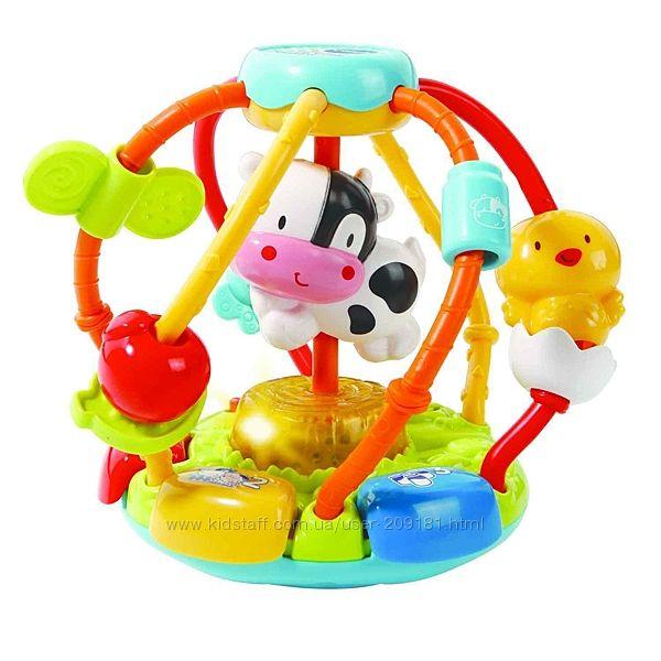 Развивающая игрушка-мячик Vtech Тряси и крути со звуковыми эф 80-502926