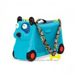 Детский чемодан-каталка для путешествий - Песик -турист Battat