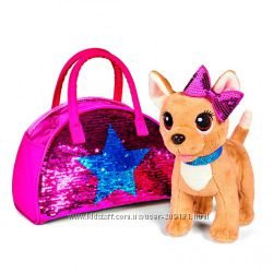 Собачка Chi Chi Love Чихуахуа Звезда с пайетками сумочкой Simba 5893351