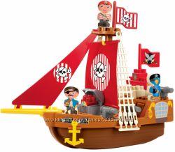 Конструктор Ecoiffier Корабль с пиратами 29 элементов 3023