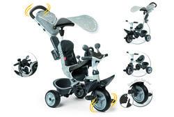 Велосипед детский Smoby Toys Беби Драйвер козырек, багажник,  серый 741202