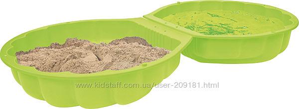 Песочница-бассейн BIG 88 х 88 х 21 см Зеленая 7723