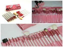 Набор кистей для макияжа 20 штук розовые