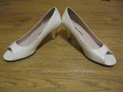 туфли женские свадебные белые лакированные
