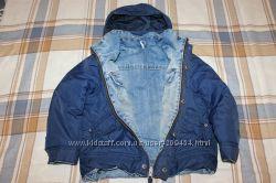 куртка демисезонна двухсторонняя