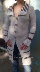Пальто-кардиган вязанный
