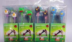 Прикольные Наушники Angry Birds - оригинальный подарок для всех В НАЛИЧИИ