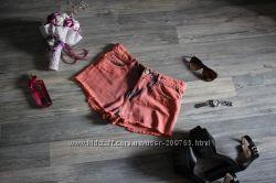 Джинсовые шорты, высокая посадка