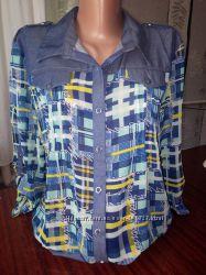 Классные рубашки джинсшифон. Еще дешевле последний размер