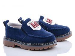 Туфли р. 21-25 мокасины на мальчика и девочку, синие, бордовые