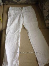 Модные льняные белые  брюки фирмы  Espirit