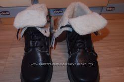 Термо ботинки  chicco 32, 33размеры