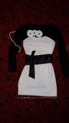 Тепленькое и нарядное трикотажное платье - туника