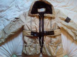Куртка весенняя легкая с золотистым отливом 46-48
