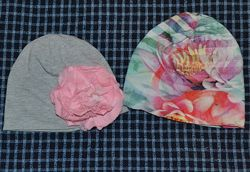 Тонкие демисезонные шапочки на девочку 3-4 года
