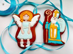 Новогодние  имбирные пряники. Пряники на день Святого Николая