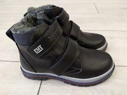 РАСПРОДАЖА Зимние кожаные ботинки для мальчиков ТМ Bravi 32-39 размеров