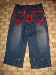 Флисовые штанишки, джинсики с паетками