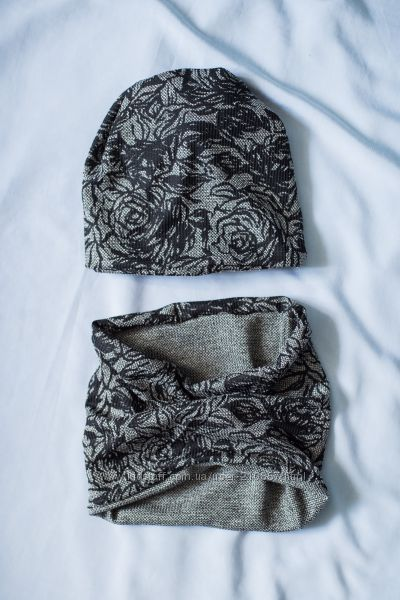 Комплект шапка двойная и снуд